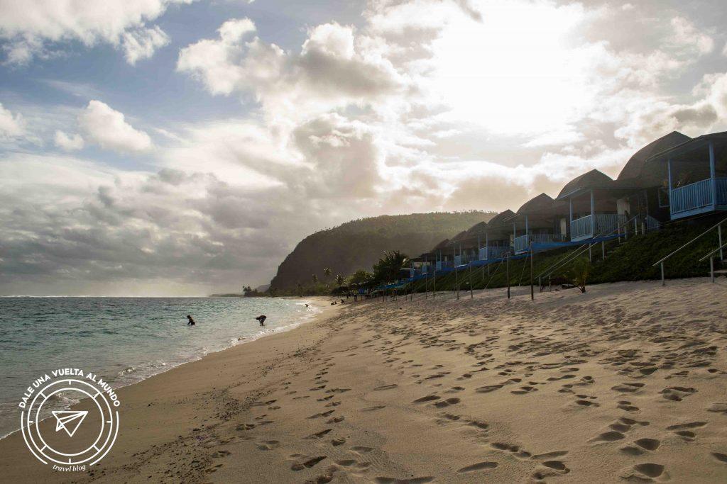 lalomanu taufua beach fales samoa